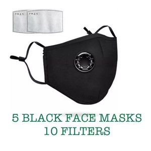Accessories - 💎DEAL💎 5 Washable Black Cotton Face Covers